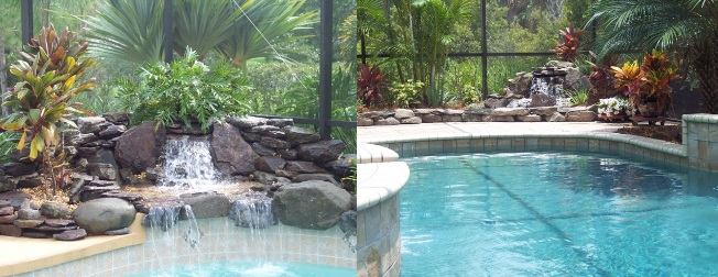 can you add a waterfall to an existing pool living waters pond garden. Black Bedroom Furniture Sets. Home Design Ideas